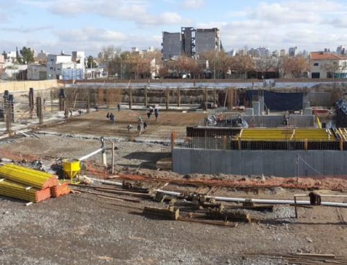 Complejo Judicial de Cipolletti: construyen el piso de la planta baja